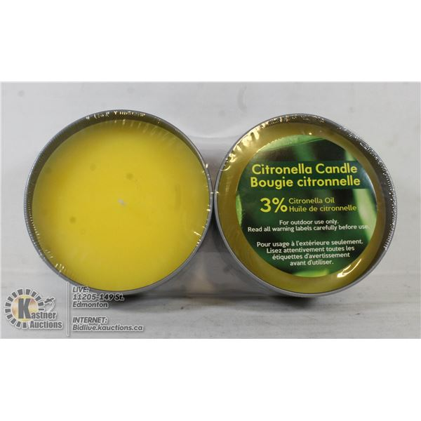 NEW 2 PACK OF CITRONELLA CANDLES