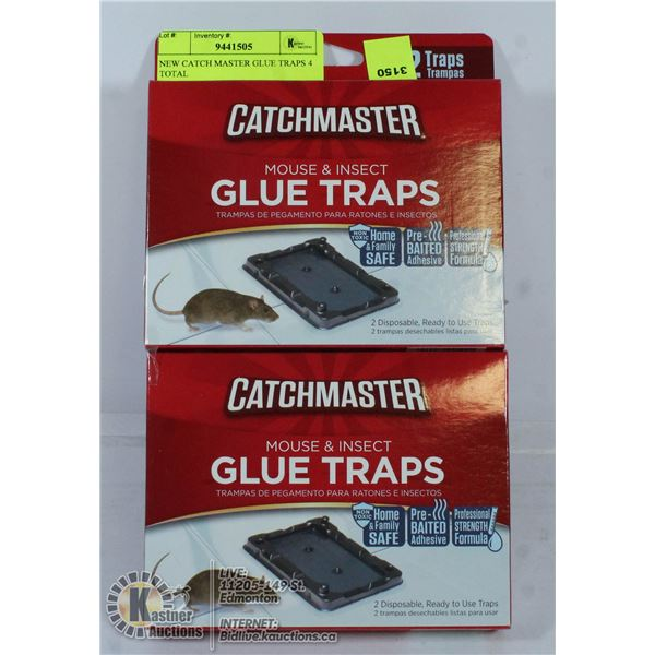 2 LARGE GLUE TRAPS BY CATCHMASTER