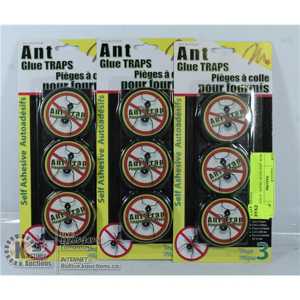 NEW ANT GLUE TRAPS - 9 TOTAL