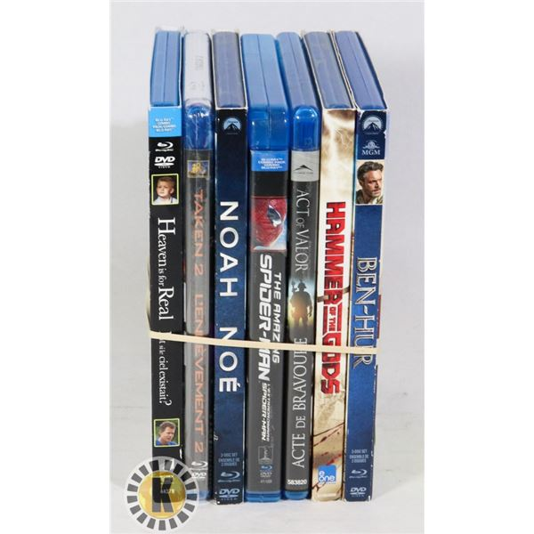 BUNDLE OF BLUE RAY MOVIES