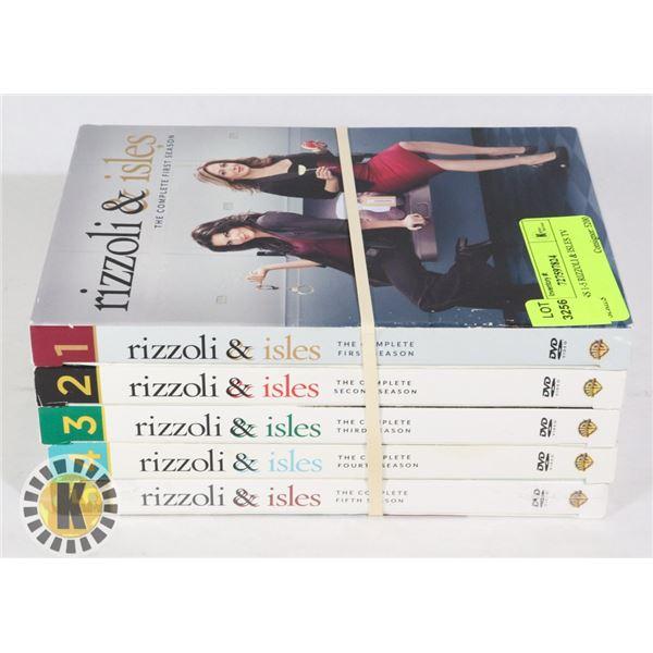 SEASONS 1-5 RIZZOLI & ISLES TV SERIES