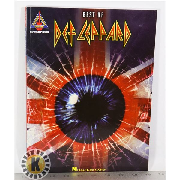 BEST OF DEF LEPPARD RECORDED VERSIONS GUITAR BOOK