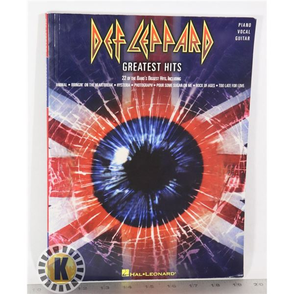 DEF LEPPARD GREATEST HITS PIANO, VOCAL, GUITAR BOO