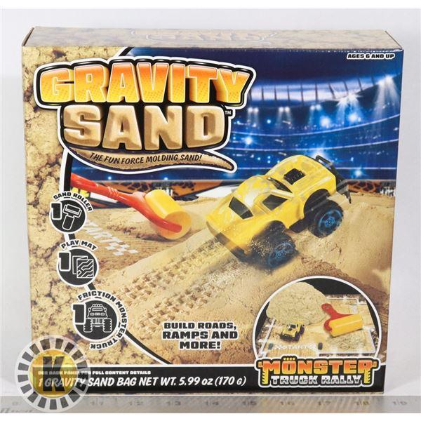 NEW GRAVITY SAND MONSTER TRUCK RALLY SET