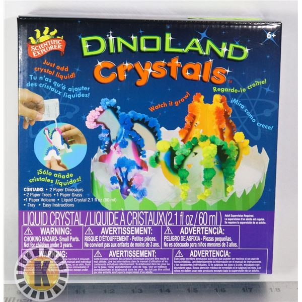 NEW DINO LAND CRYSTALS KIDS SCIENCE TOY