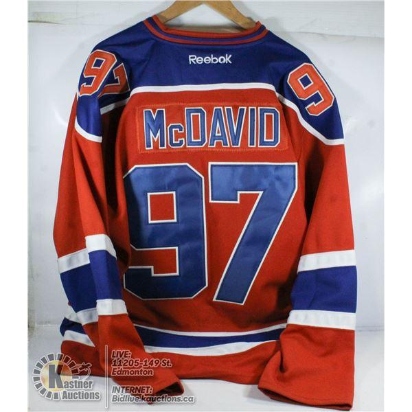 CONNOR MCDAVID GAME STRAP JERSEY SIZE 50 NHL