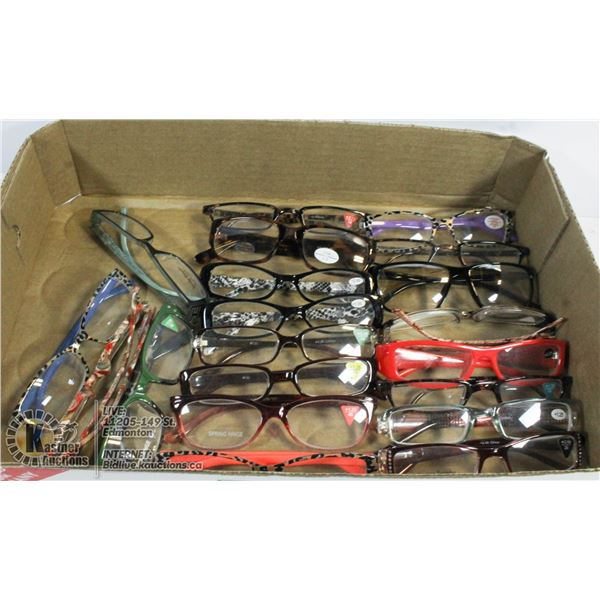 LOT OF ASSORTED GLASSES.