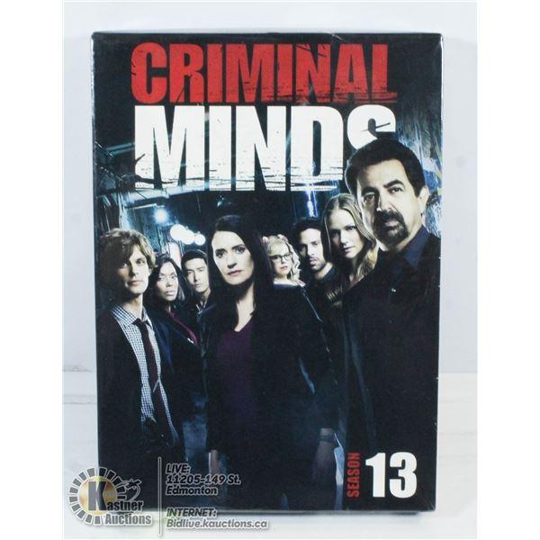 NEW IN BOX CRIMINAL MINDS SEASON 13.