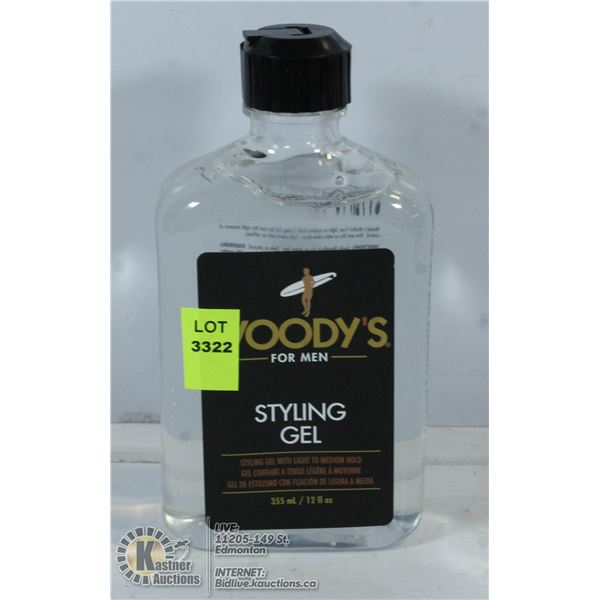 WOODYS FOR MEN STYLING GEL WITH LIGHT TO MED HOLD