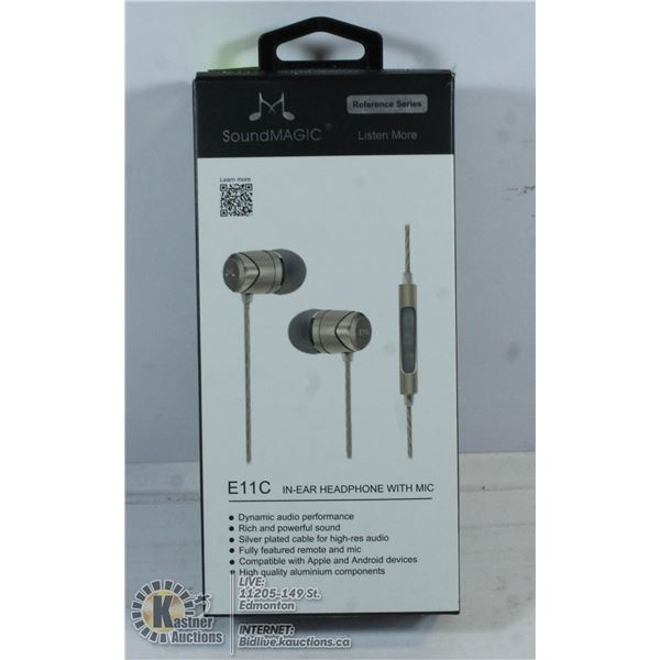 E11C IN EAR HEADPHONES WITH MICROPHONE.