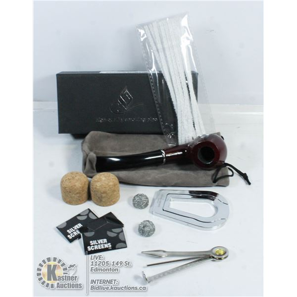 NEW IN BOX TOBACCO PIPE AND CLEANING ACCESSORIES.