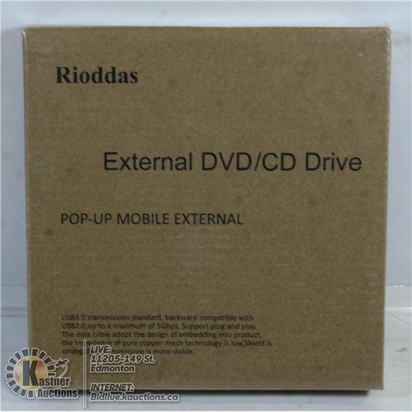 POP UP MOBILE EXTERNAL DVD/CD DRIVE.