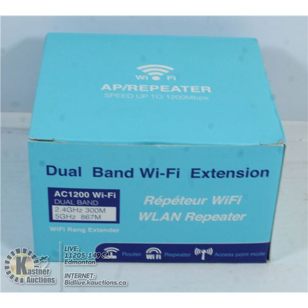 DUAL BAND WIFI EXTENSION.