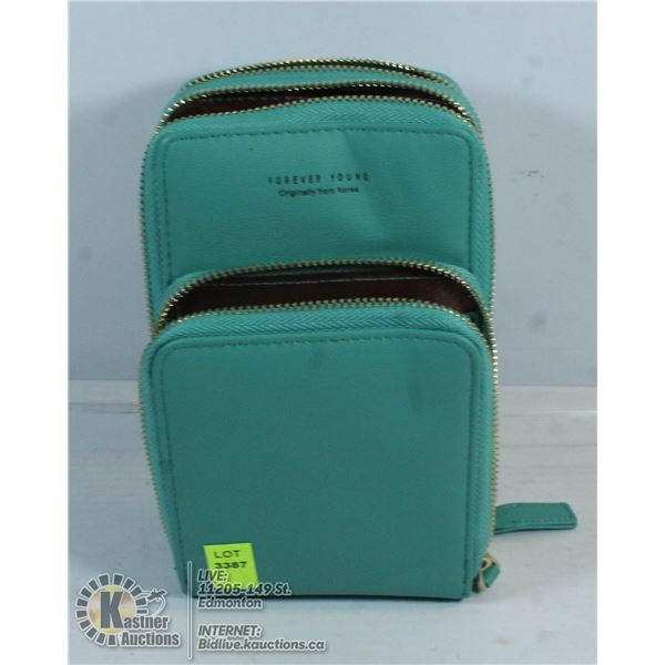 FOREVER YOUNG TEAL 3 POCKET PURSE.
