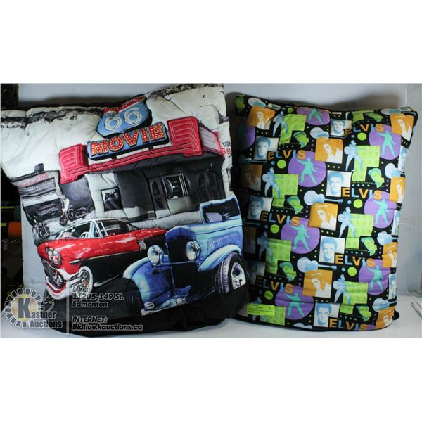 ELVIS & ROUTE 66 MOVIE DRIVE IN (QUILT PILLOWS)
