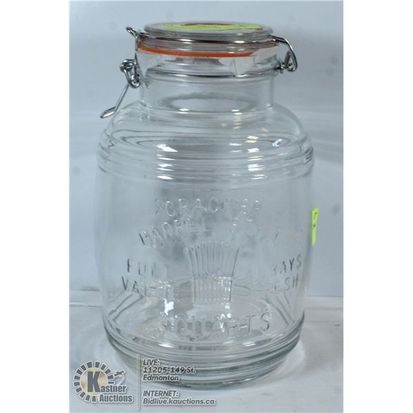 NEW SEALED REPLICA CRACKER BARREL DISPLAY JAR