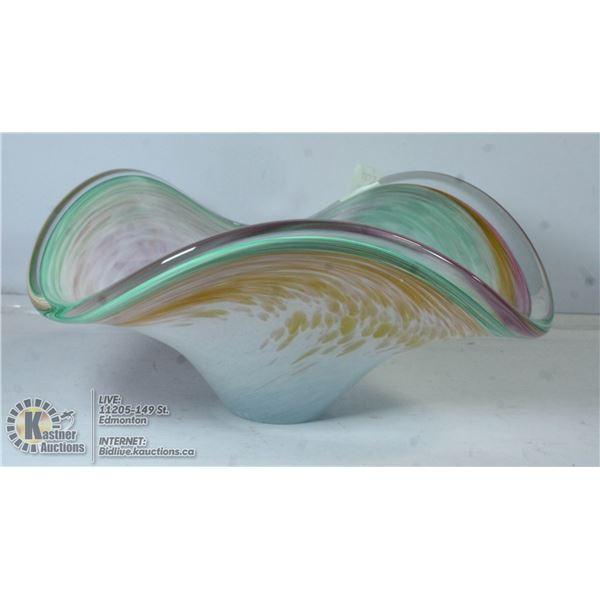 WAVY MURANO GLASS BOWL
