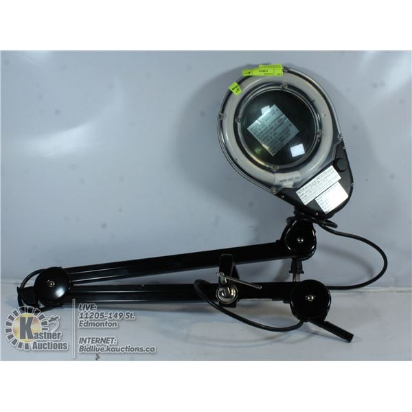 MAGNIFYING GLASS W/ LOND EXTENDER CLAMP ARM