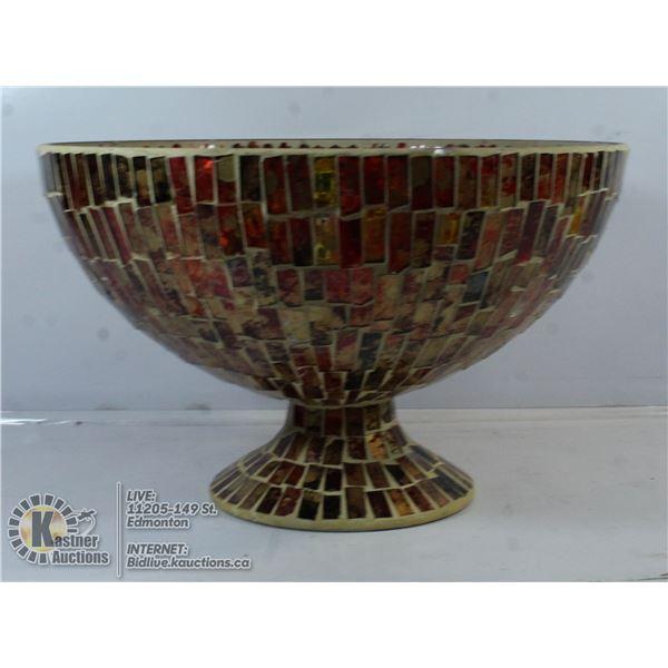 LARGE MOSAIC GLASS BOWL