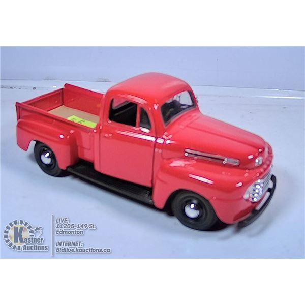 DIE CAST VEHICLE - 1948 FORD PICKUP (RED)