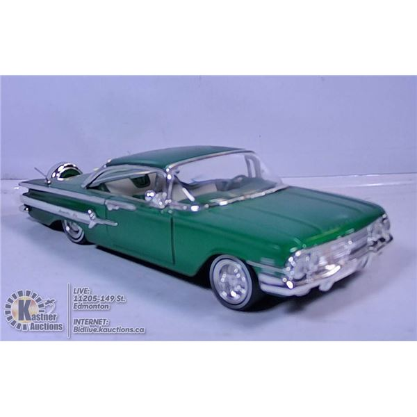 DIE CAST VEHICLE - 1960 CHEVY IMPALA (GREEN)