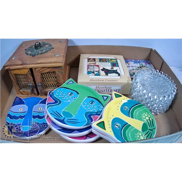 FLAT OF VARIOUS SETS OF COASTERS