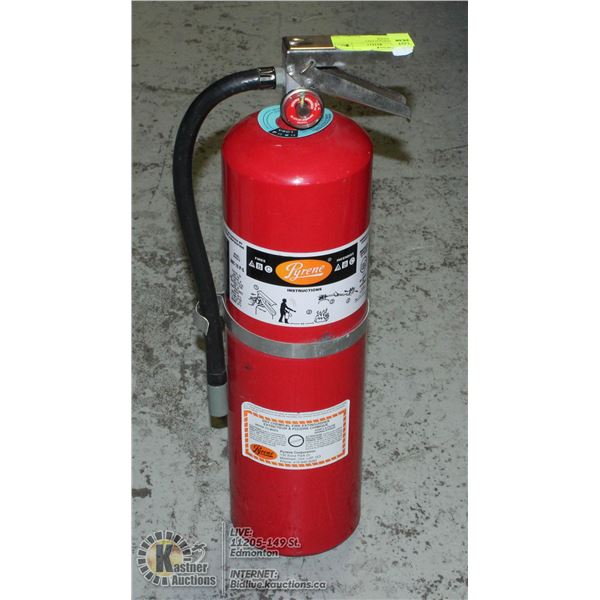 UNCLAIMED 10LBS CHARGED FIRE EXTINGUISHER.