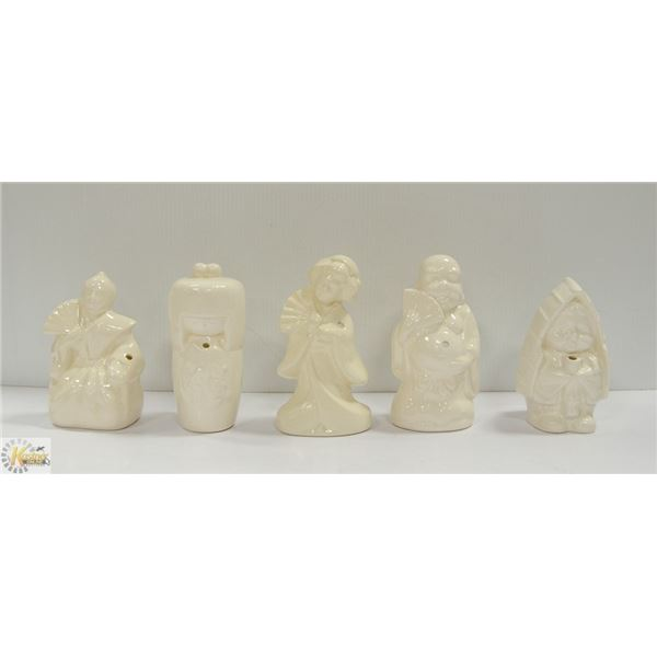 ASIAN INCENSE BURNERS FIVE WHITE