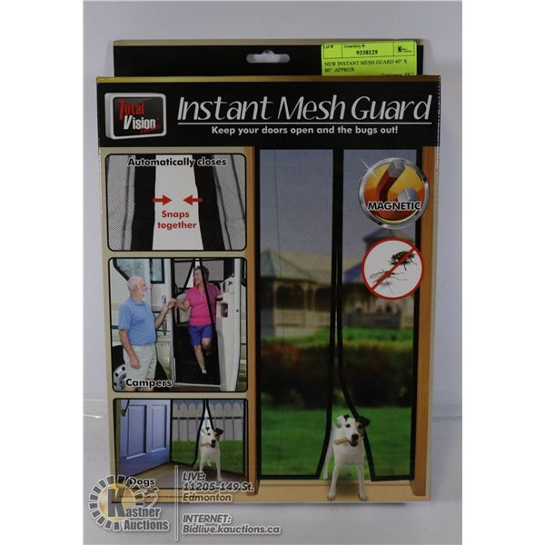 """NEW INSTANT MESH GUARD 40"""" X 80""""  APPROX"""