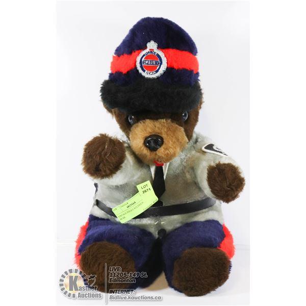 VINTAGE POLICE STUFFED BARNEY BEAR