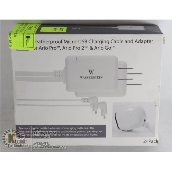 WASSERSTIEN MICRO USB CHARGING CABLE &  ADAPTER