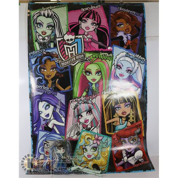 MONSTER HIGH DOLL AND POSTER SOLD WITH LOL/OMG
