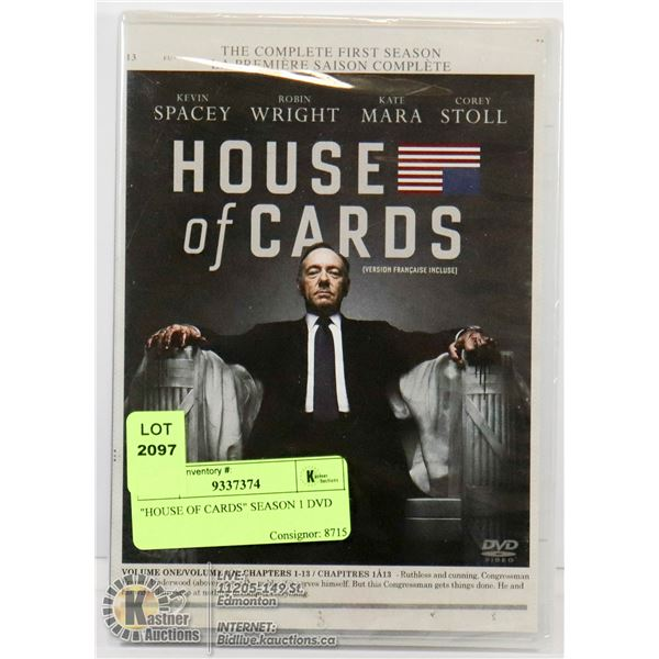 """HOUSE OF CARDS"" SEASON 1 DVD"