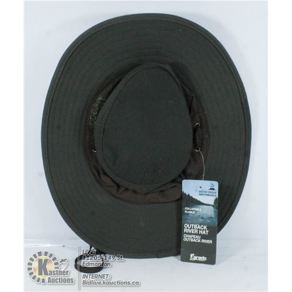 OUTBACK RIVER HAT WATERPROOF OILED COTTON MEDIUM