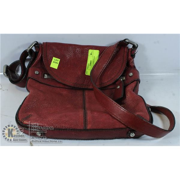 FOSSIL RED LEATHER PURSE AUTHENTIC