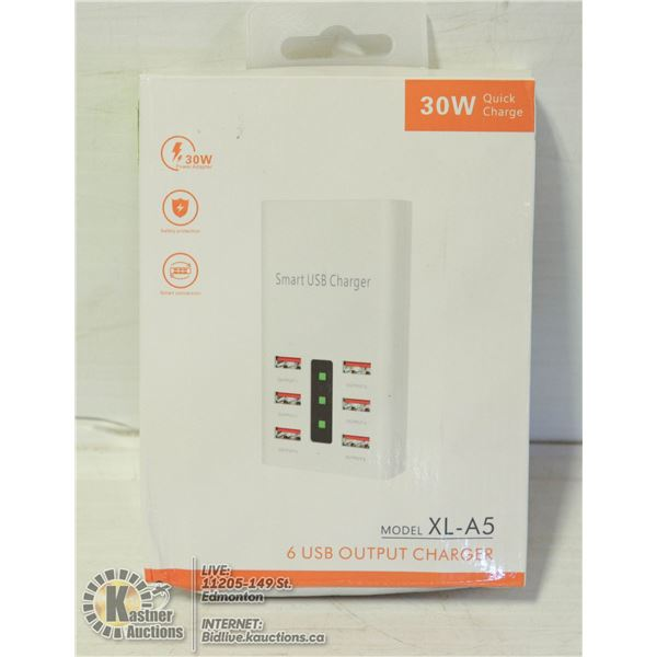 NEW 6 USB SLOT HIGHSPEED CHARGER NEW IN BOX
