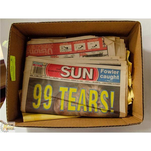 OLD EDMONTON SUN & ALBERTA REPORT NEWSPAPERS