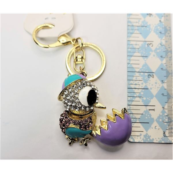 32)  NEW RHINESTONE AND ENAMELLED CHICK