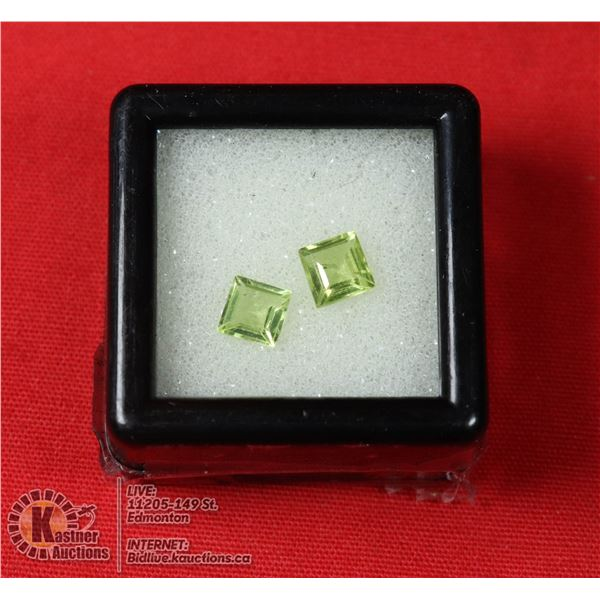 GENUINE FACETED PERIDOT GEMTONES, JEWELRY READY