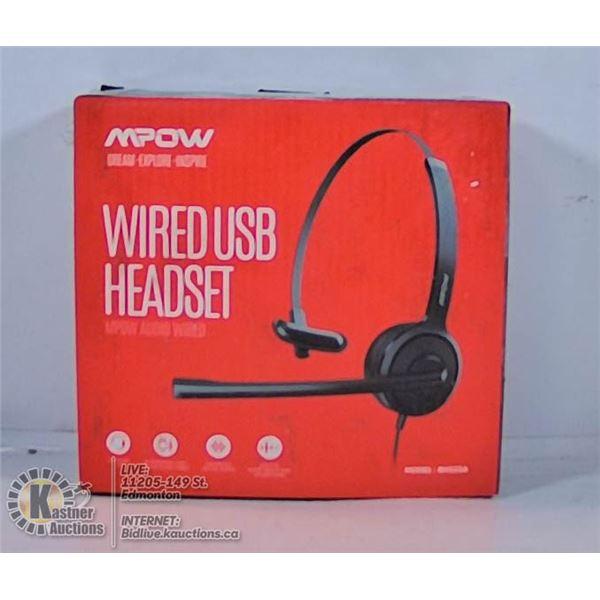 MPOW WIRELESS USB HEADSET.