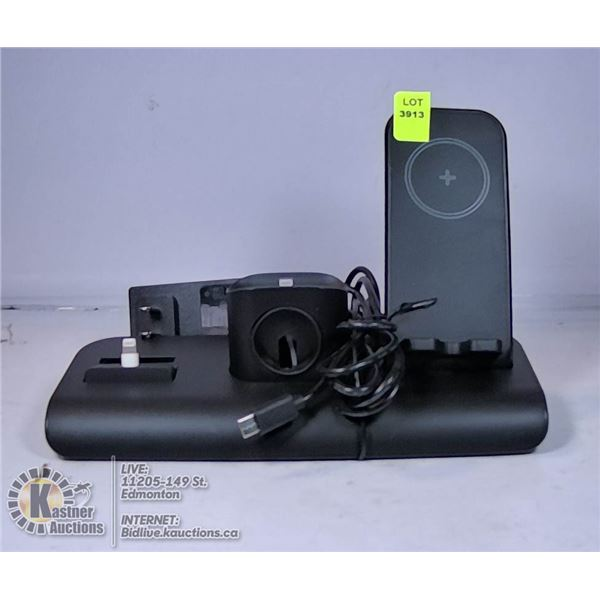 3 IN 1 CHARGING STATION FOR IPHONE IPOD AND APPLE