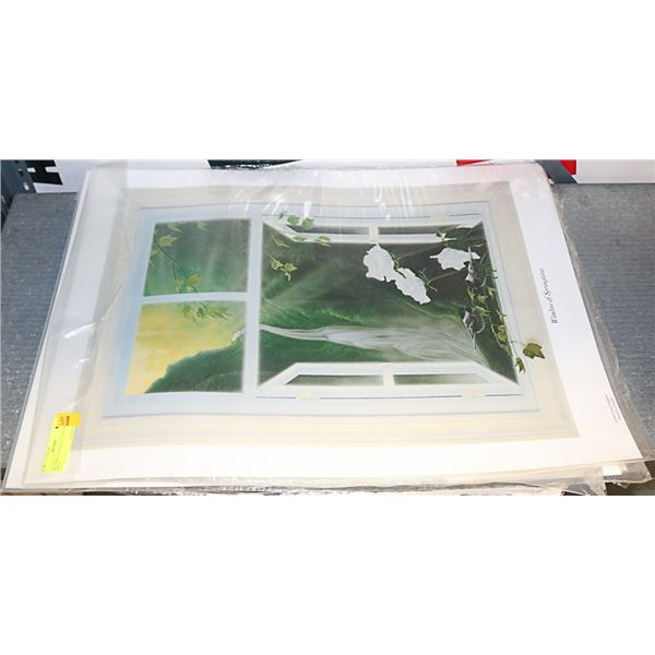 LOT OF 3 WINDOWS OF SPRING (UNFRAMED PRINT) 28X20