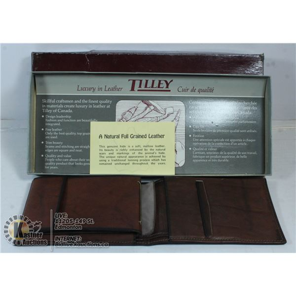 TILLEY LUXURY LEATHER WALLET