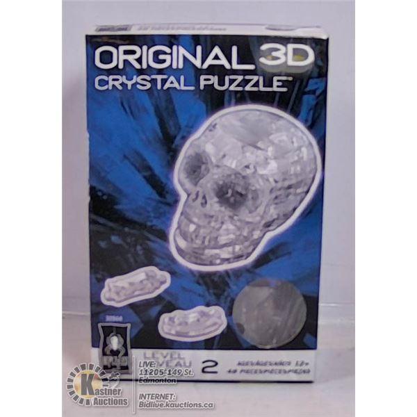 ORIGINAL 3D CRYSTAL PUZZLE - SKULL