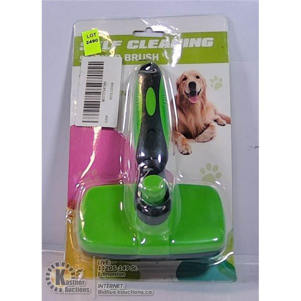 SELF CLEANING SUCKER BRUSH FOR DOGS AND CATS