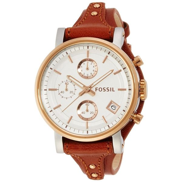 NEW FOSSIL TRIPLE CHRONO 38MM WHITE DIAL MSRP $245