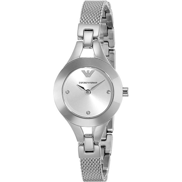 NEW ARMANI 28MM SILVER DIAL ST. STEEL MSRP $269
