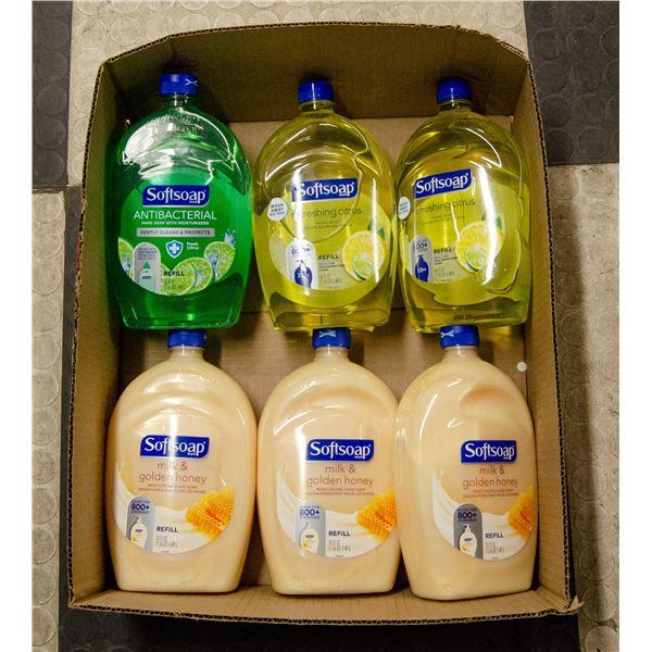 FLAT OF SOFTSOAP HAND SOAP BOTTLES
