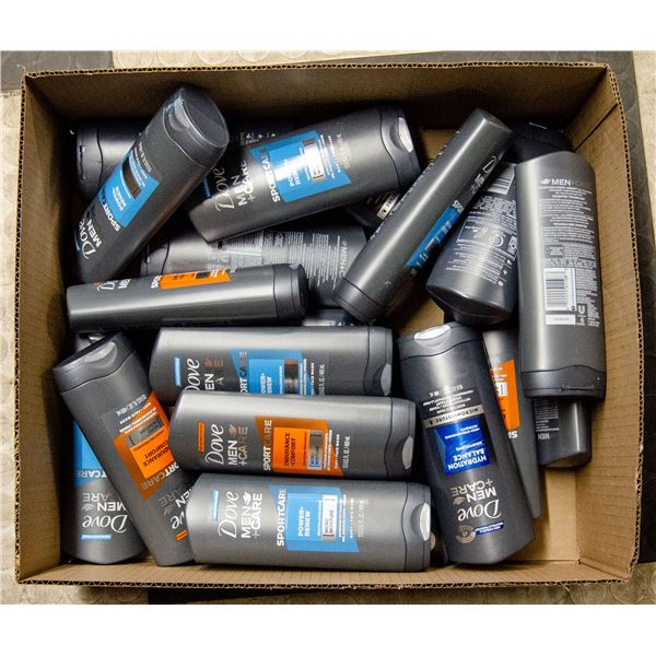 FLAT LOT OF DOVE MENS CARE BODY WASH