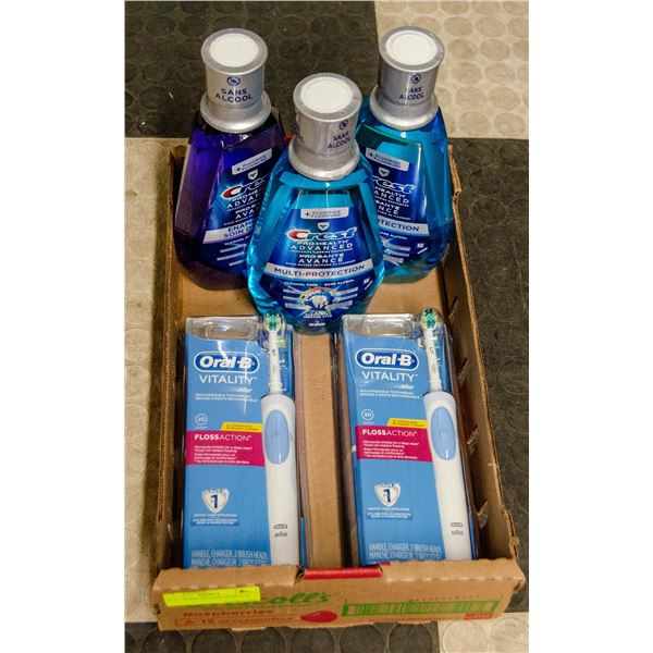 FLAT OF MOUTH CARE PRODUCTS